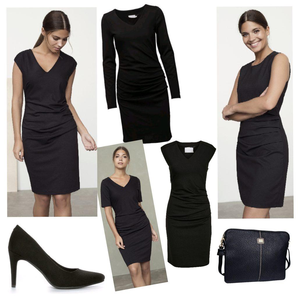 Svart klänning från KAFFE